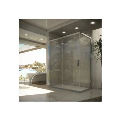 paroi de douche angulaire damara seviban 180 cm transparent achat vente cabine de douche. Black Bedroom Furniture Sets. Home Design Ideas