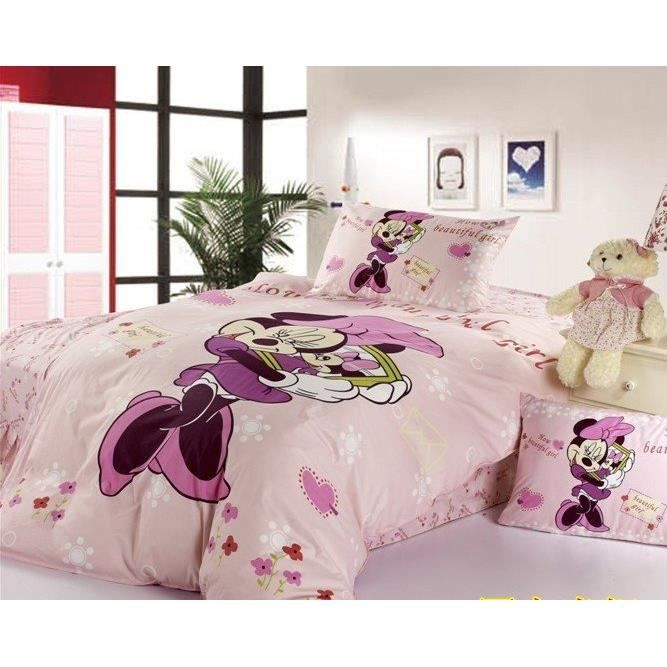parure 3d 1 personne minnie achat vente parure de drap cdiscount. Black Bedroom Furniture Sets. Home Design Ideas