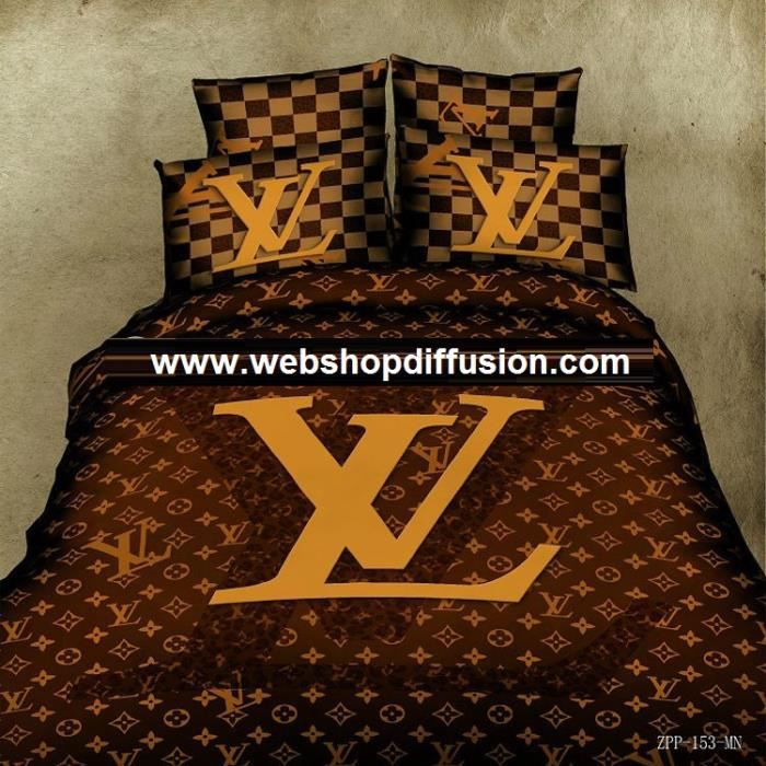 parure 3d 2 personnes louis vuitton achat vente parure. Black Bedroom Furniture Sets. Home Design Ideas