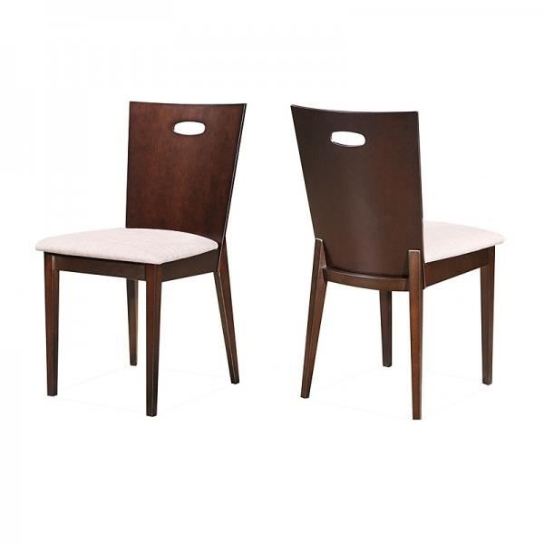 chaises tamy en bois et tissu cru lot de 2 achat. Black Bedroom Furniture Sets. Home Design Ideas