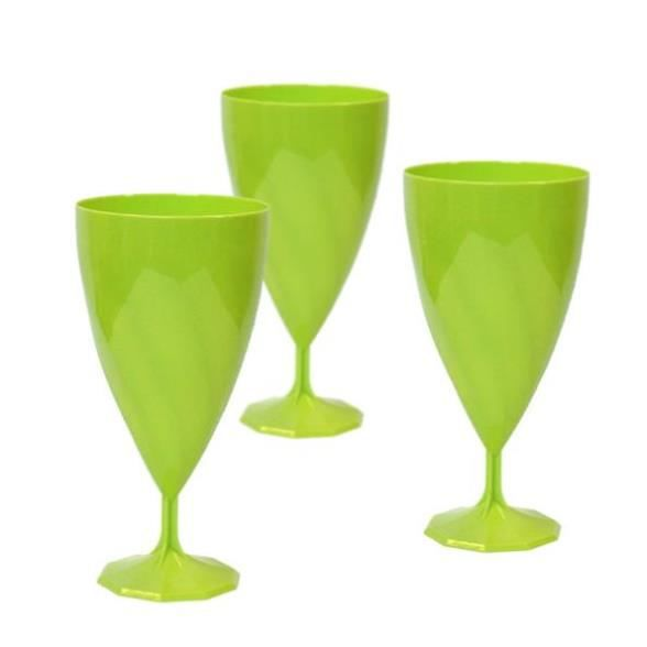 6 verres eau plastique rigide vert anis 24 cl achat vente verre jetable cdiscount. Black Bedroom Furniture Sets. Home Design Ideas
