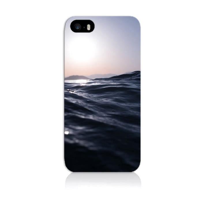 Coque iPhone 5S - Vague sombre - Cdiscount Téléphonie