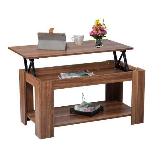 TABLE BASSE Table basse plateau relevable style contemporain