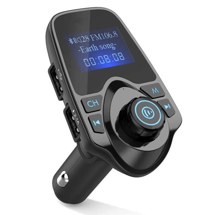 EINCAR sans Fil Allume-Cigare Bluetooth Transmetteur FM et Chargeur de Voiture Adaptateur Radio kit Voiture Mains Libres Voiture Lecteur de Musique MP3 avec Port USB Double Prise en Charge de Car