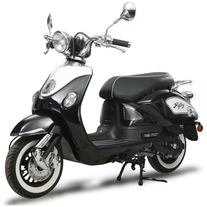 SCOOTER Scooter FIFTY 50cc 4T noir + IMMATRICULATION