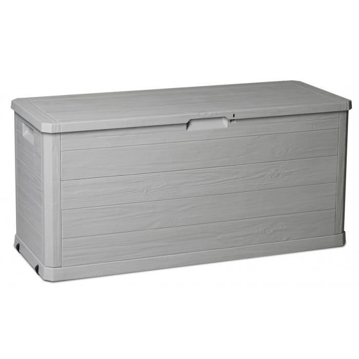 malle de rangement xxl 280 litres gris taupe achat. Black Bedroom Furniture Sets. Home Design Ideas