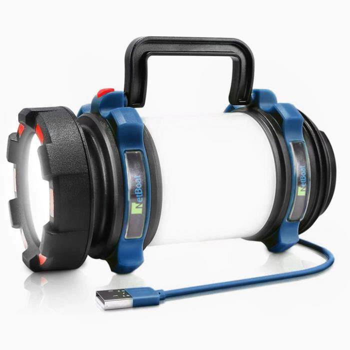 Lampe de travail 200lm 2w COB 3 LED Crochet magnétique support lampe de poche lampe de travail