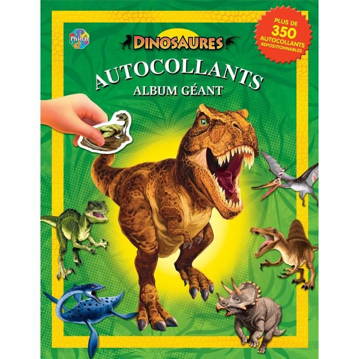 Dinosaures Album Autocollant Album Autocollant 84 Pages Editions Phidal
