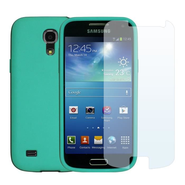 coque pr samsung galaxy s4 mini bleu x3 films achat. Black Bedroom Furniture Sets. Home Design Ideas