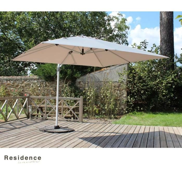 parasol 3 x 4 m 2 toiles 1 housse achat vente parasol parasol 3 x 4 m 2 toiles 1. Black Bedroom Furniture Sets. Home Design Ideas