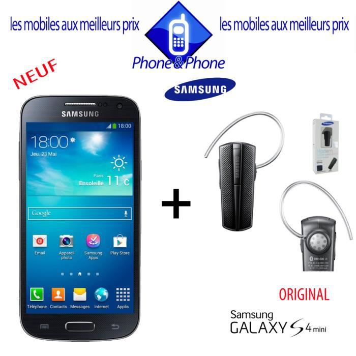 samsung galaxy s4 mini i9195 neuf kit original achat. Black Bedroom Furniture Sets. Home Design Ideas