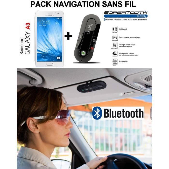 galaxy a3 blanc a300 samsung kit voiture sans fil supertooth budy achat smartphone pas cher. Black Bedroom Furniture Sets. Home Design Ideas