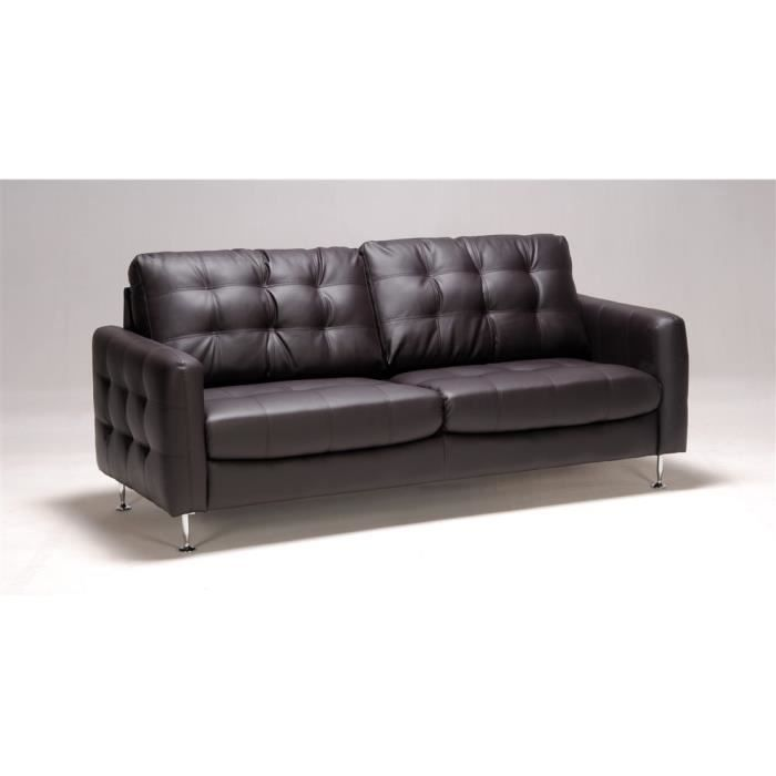canap fixe 3 places switsofa dallas chocolat achat. Black Bedroom Furniture Sets. Home Design Ideas