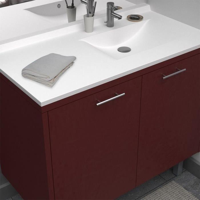 CREAZUR Plan simple vasque droite 105cm