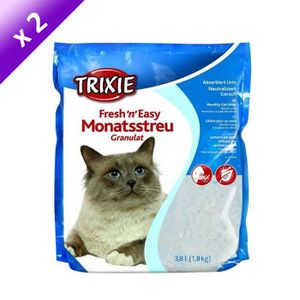 TRIXIE Lot de 2 Fresh'n'Easy granulés 3,8l pour chat
