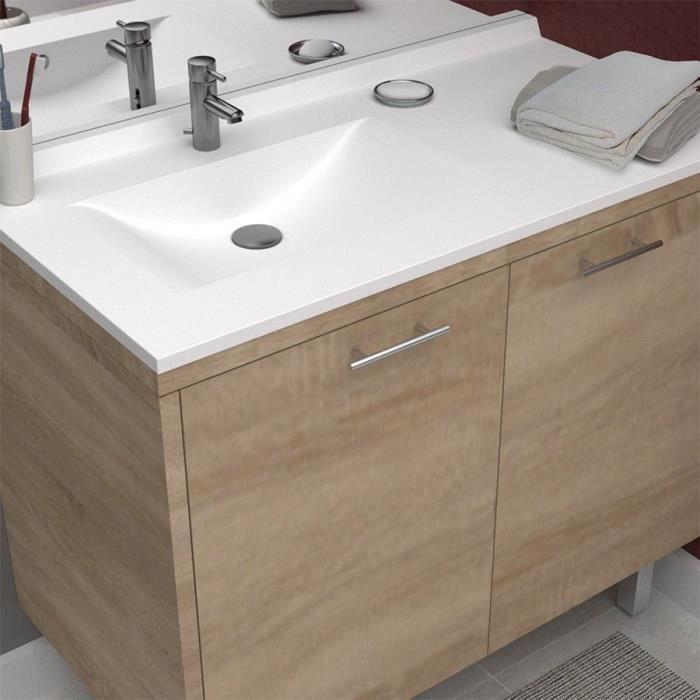 CREAZUR Plan simple vasque gauche 105cm