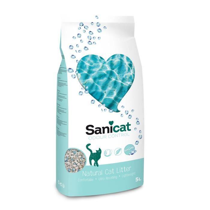 SANICAT Litière Odour Control - A base de terre de diatomée 30 jours - Pour chat