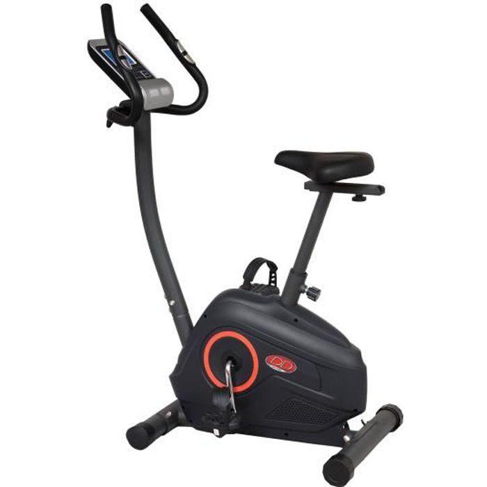 DAVID DOUILLET Vélo d'appartement magnétique motorisé - Masse d'inertie 7 kg - 12 fonctions