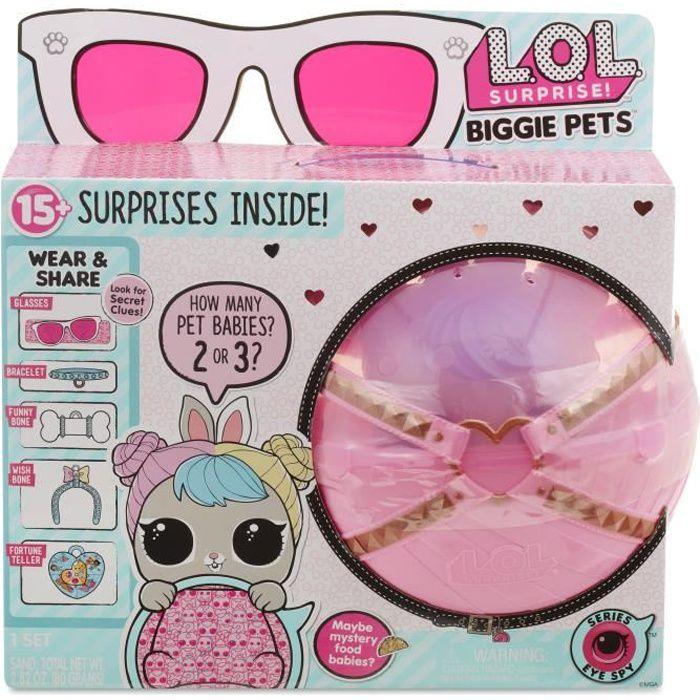 L.O.L. Surprise! Poupée - Biggie Pets Lapin - Les Animaux LOL en Version géante
