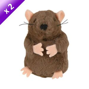 TRIXIE Lot de 2 Taupes Peluche 5cm pour chat