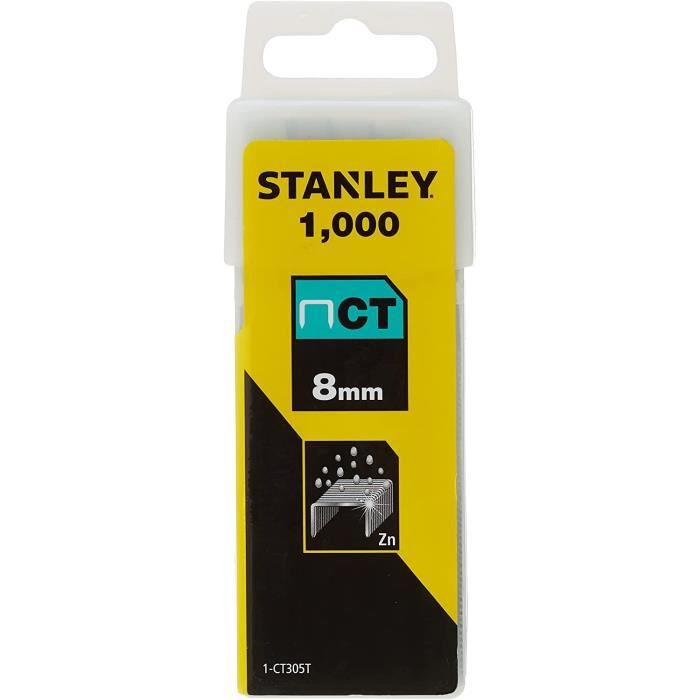 STANLEY 1000 agrafes plates 8mm-5/16-