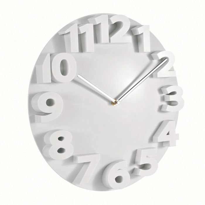 pendule murale plastique blanche achat vente horloge. Black Bedroom Furniture Sets. Home Design Ideas