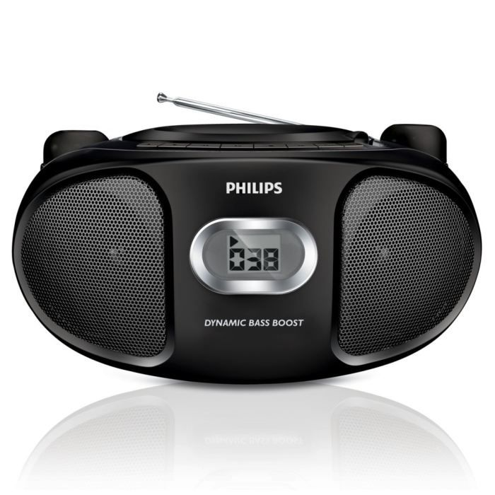 radio cd cassette philips az105b portable pictures. Black Bedroom Furniture Sets. Home Design Ideas