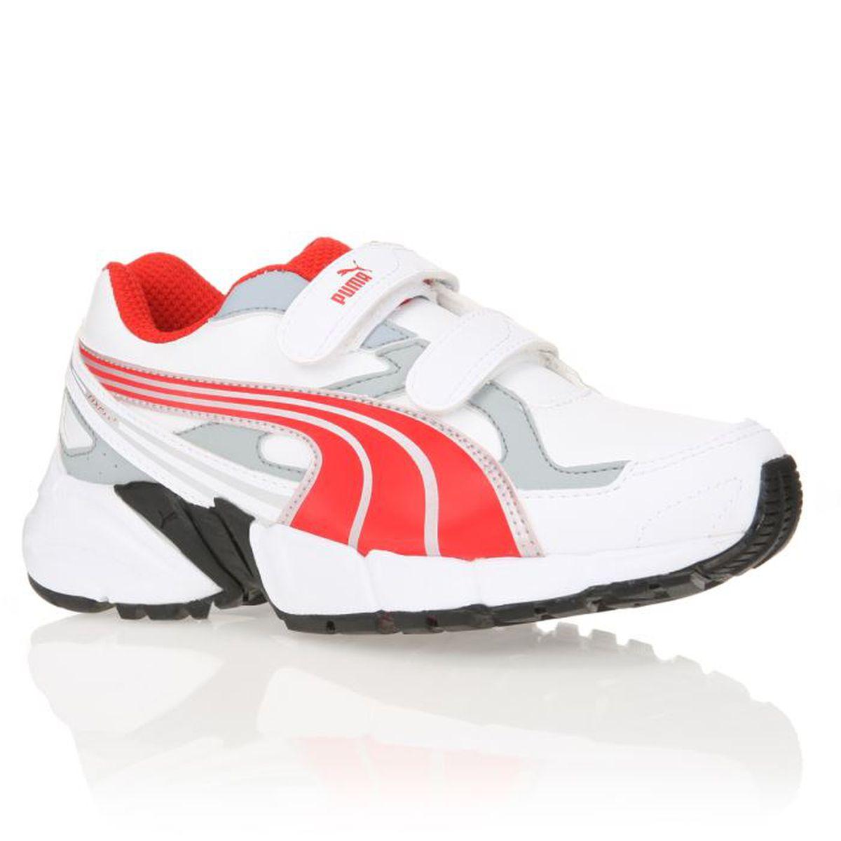 PUMA Chaussure Axis 2 SL V Enfant blanc et Rouge Achat