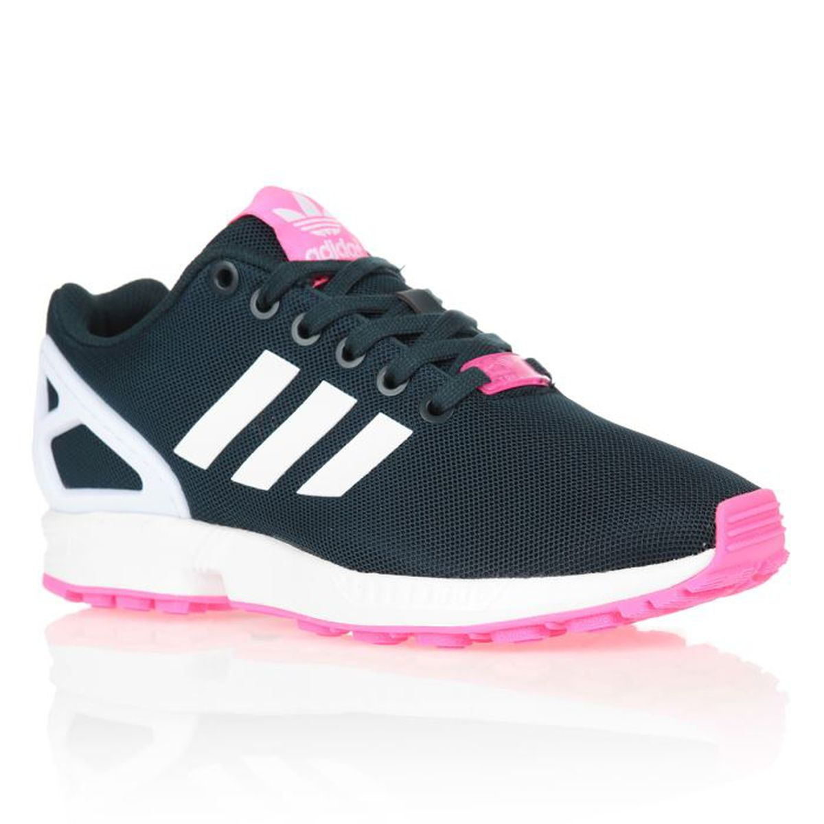 adidas originals baskets zx flux femme femme noir et blanc. Black Bedroom Furniture Sets. Home Design Ideas
