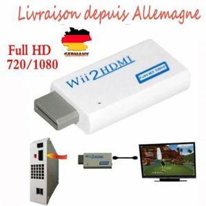 CARTE PRÉPAYÉE Mini Convertisseur HDMI Wii 1080p 720p HD adaptate