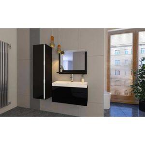 MEUBLE VASQUE - PLAN Meuble salle de bain EMERENCE Noir laqué - Meubles