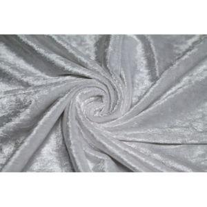 TISSU Tissu Panne de Velours Blanche -Au Mètre