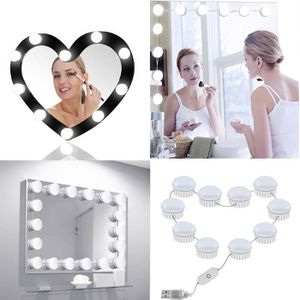 AMPOULE - LED 10 LED Maquillage Miroir Ampoules Lumineux HQQNUO