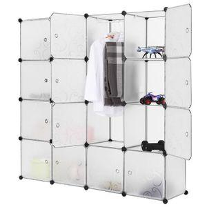 ARMOIRE DE CHAMBRE LANGRIA 16-Cube Armoire de Rangement Modulaire - B