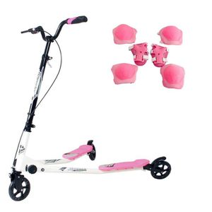 TROTTINETTE SUNGLE trottinette 3 roues rose pliable avec 2 pla