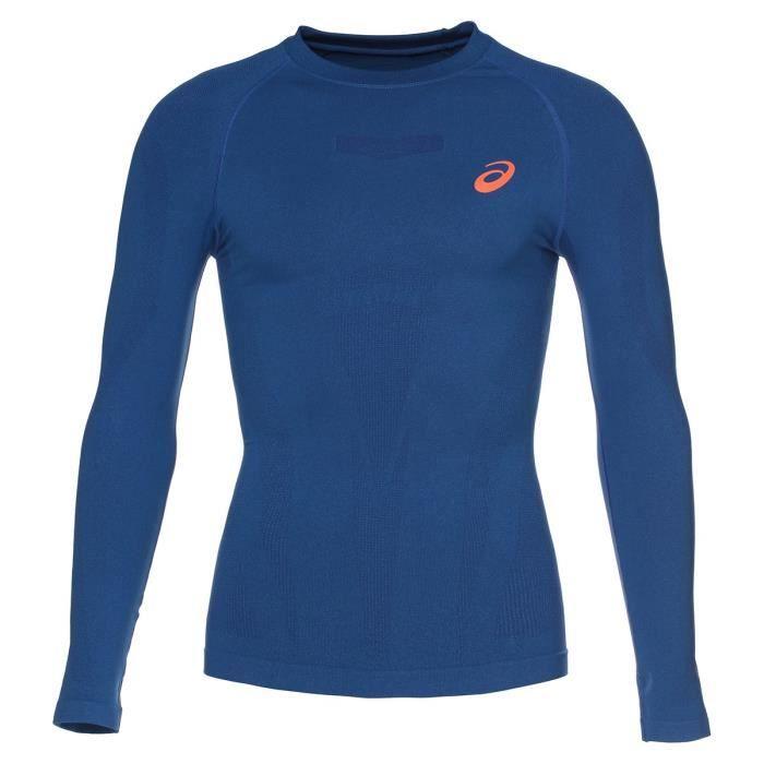 ASICS Liteshow Tee shirt manches longues Homme - Bleu marine