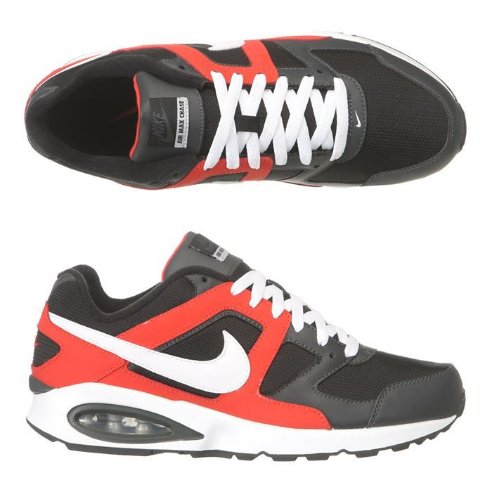 NIKE Baskets Air Max Chase Homme Noir, rouge et blanc