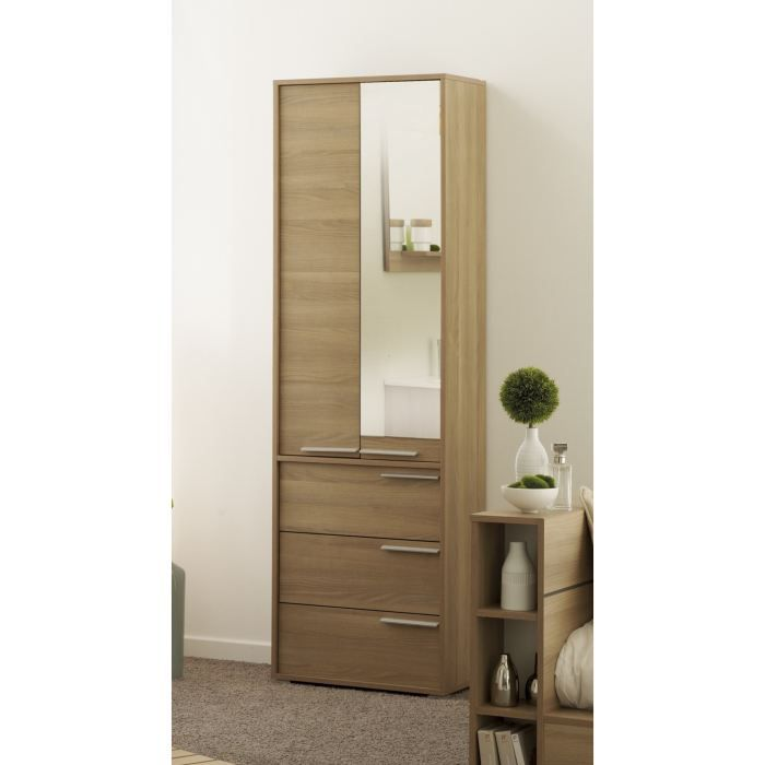 colonne wave d cor robinier l60 cm achat vente colonne armoire sdb colonne wave l60 cm. Black Bedroom Furniture Sets. Home Design Ideas