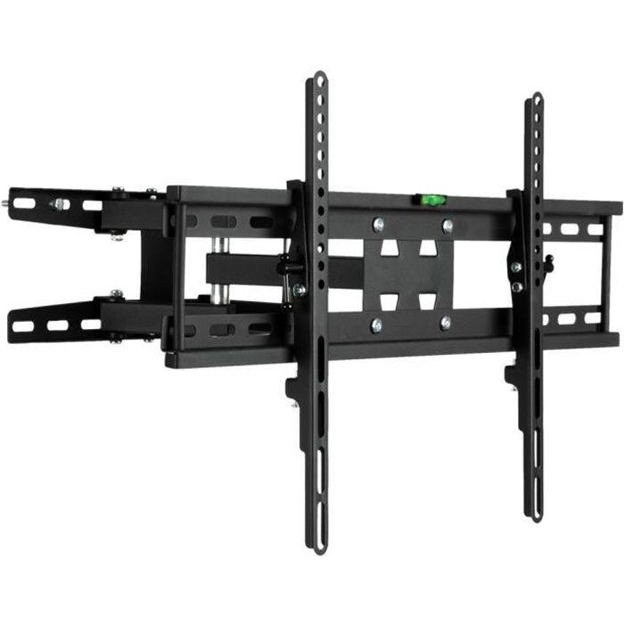 Support TV Mural réglable Charge Max 50 kg Double Bras VESE 600x400mm Pour Ecran 32 --70-