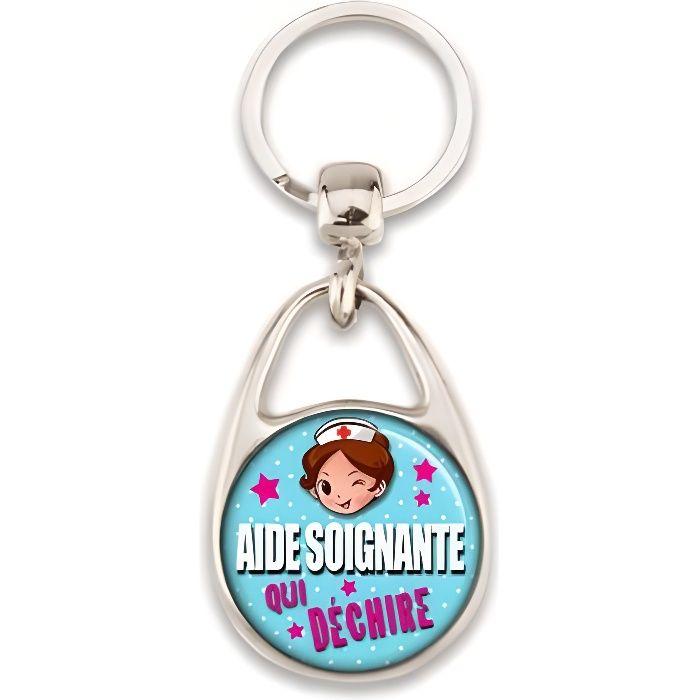 Porte clés 'Aide soignante'