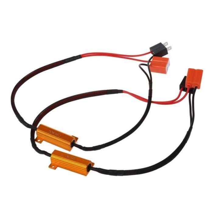 decodeur 2 x H7 decodeur Resistance de Clignotant LED Erreur Canbus pour BMW Audi