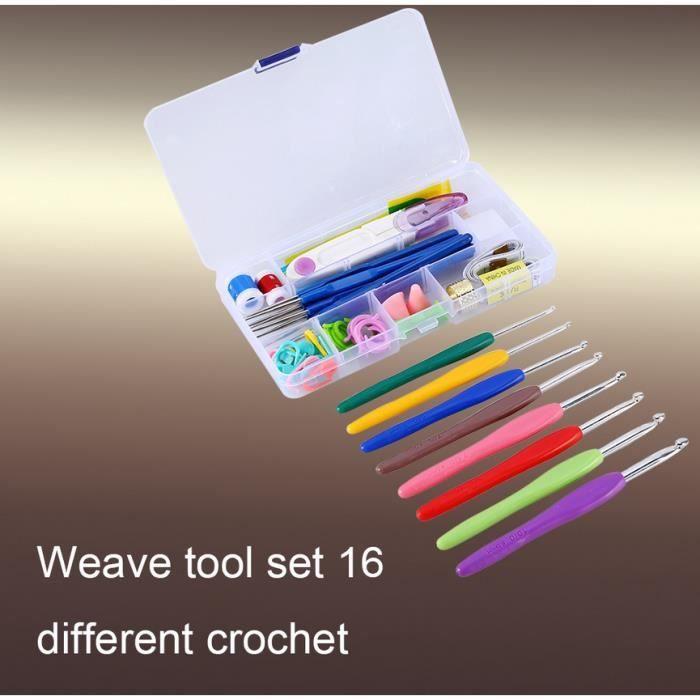 16 tailles crochets aiguilles tissage points couture à tricoter Craft Case Set New-TIM