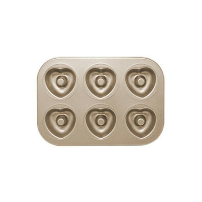 Mini moule à gâteau Madeleine, moule à biscuits ovale antiadhésif à 6 cavités TRH12652