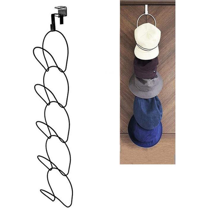 Crochet pour vêtements, Patère, Support Rangement Multifonction Robuste, Porte-Chapeaux, Porte-Casquettes, Crochet Auto-adhésif Port