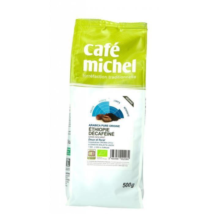 Café Ethiopie décaféiné grains 500gr