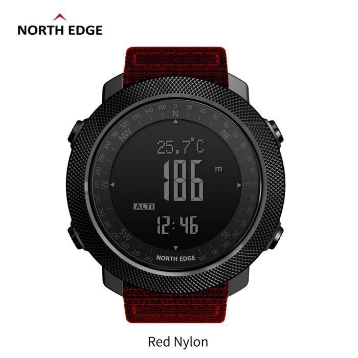 C North Edge APACHE Sports Smartwatch étanche 50 m natation altimètre baromètre boussole escalade militaire montre intelligente La