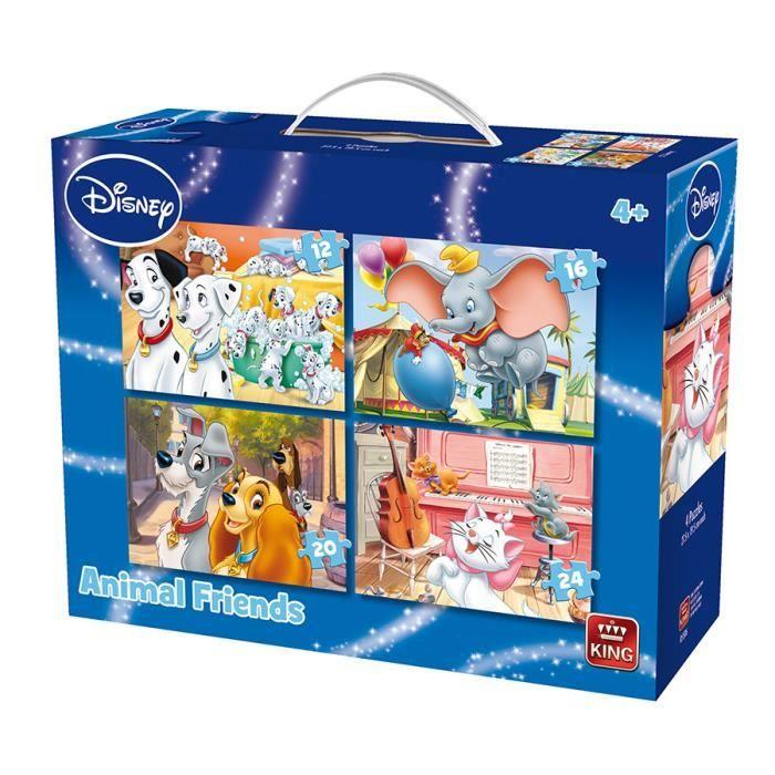 Puzzle 12 pièces 4 Puzzles - Animal Friends Disney