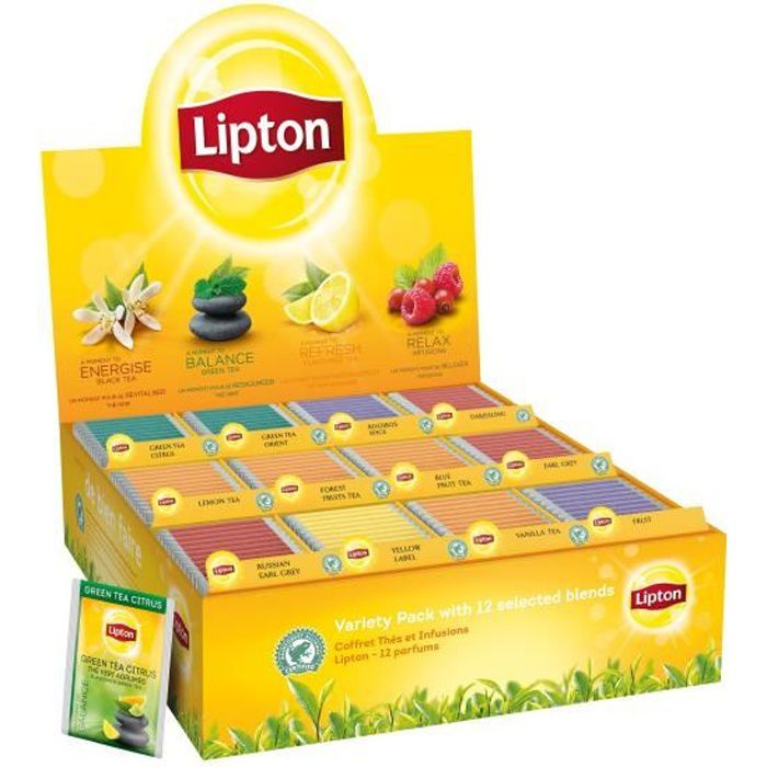 Lipton coffret thés et infusions 180 sachets