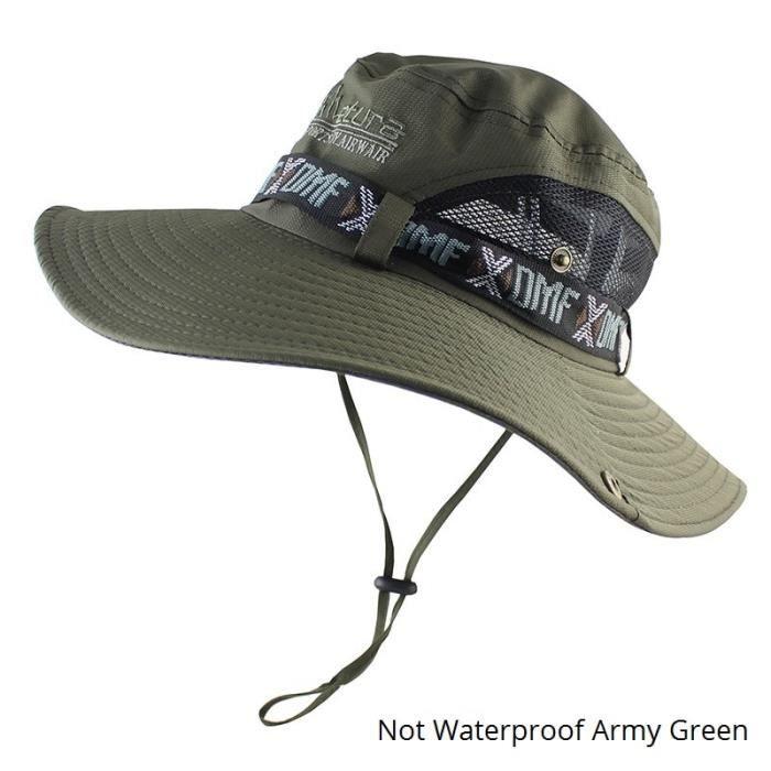 CAMOLAND imperméable seau chapeau pour hommes femmes en plein air casquette de pêche été UV Protecti Model B Green