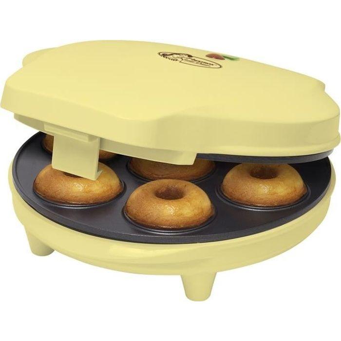 BESTRON ADM218SD Machine à donuts - Jaune Pastel